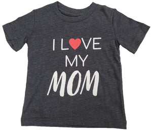 I Love My Mom Heart Boys T-Shirt