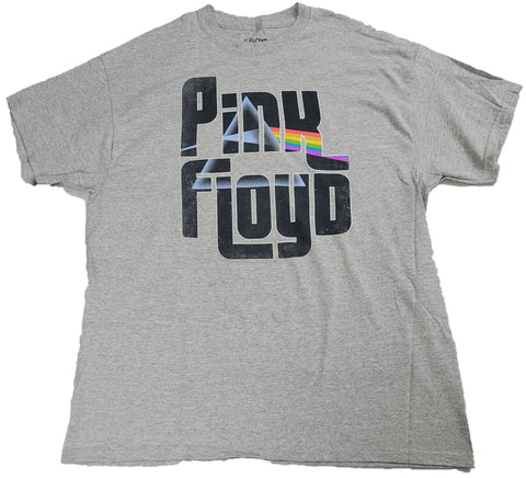 Pink Floyd Pyramid Rock Band Mens T-Shirts (Grey)