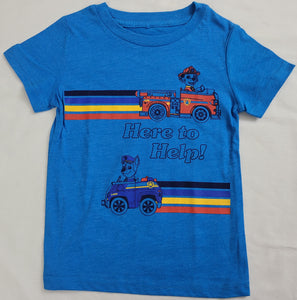 Here to Help Paw Patrol Boys T-Shirt Nick Jr (Blue)