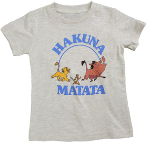 Hakuna Matata Lion King Timon Pumba Simba Disney Boys T-Shirt