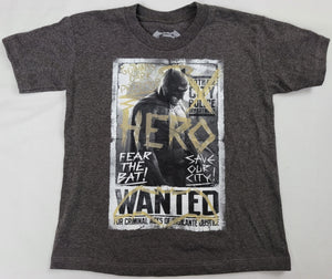 Batman Hero Fear The Bat Gotham City Wanted Boys T-Shirt