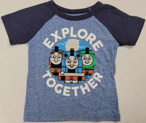 Explore Together Thomas The Tank Engine Train Boys T-Shirt 2T 3T 4T 5T