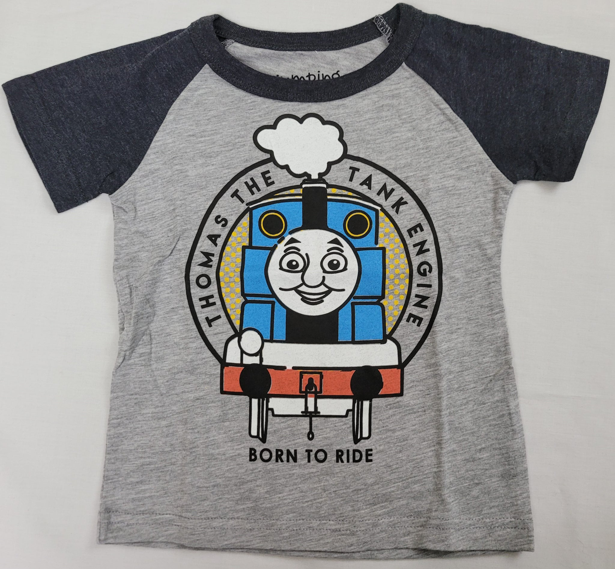 Born To Ride Thomas The Tank Engine Train Boys T-Shirt 2T 3T 4T 5T