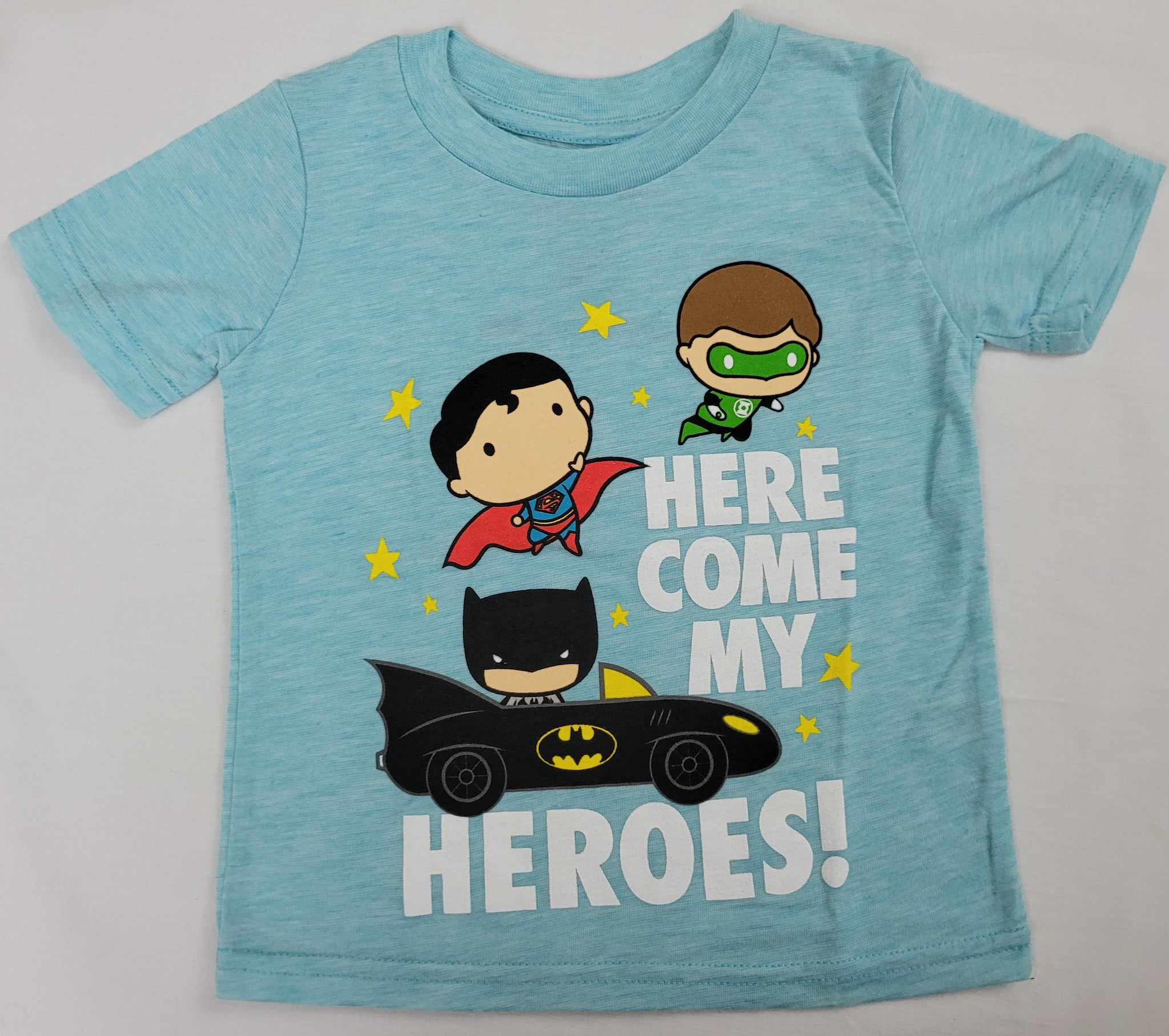 Green Lantern Superman Batman Here Come My Heres Boys T-Shirt 2T 5T