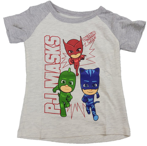 On Our Way PJ Mask Hasbro Disney Boys T-Shirt 2T 3T 4T 5T
