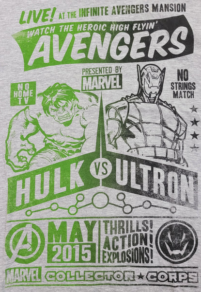 Infinite Avengers Mansion Hulk Ultron Marvel DC Comics Funko Pop Mens T-Shirt