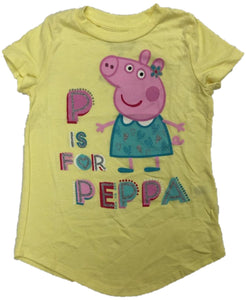 Peppa Pig P is for Peppa Nickelodeon Girls T-Shirt