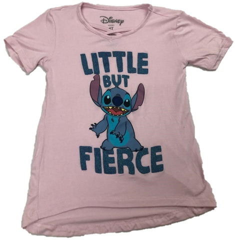 STITCH LITTLE BUT FIERCE Disney Walt Disney Girls T-Shirt