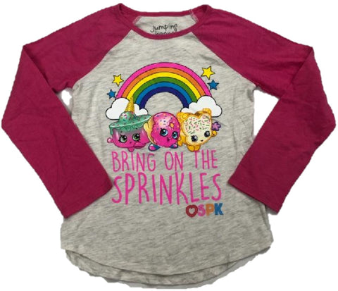 Bring on the Sprinkles Rainbow HEART SPK Walt Disney Girls Long Sleeve T-Shirt