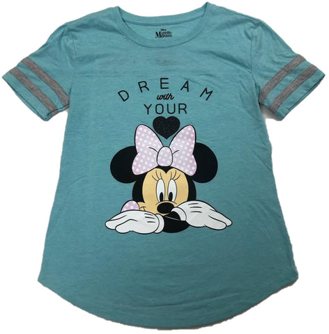 Minnie Mouse Dream with your Heart Walt Disney Girls T-Shirt