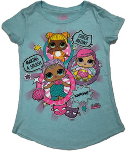 L.O.L. Surprise! O.M.G. Outrageous Millennial Girls CHECK MEOWT MAKING A SPLASH KAPOW Girls T-Shirt Tee