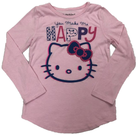 Hello Kitty You Make Me Happy Girls Long Sleeve T-Shirt