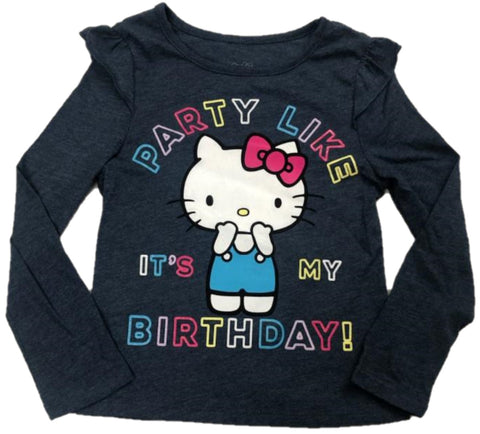 Hello Kitty Party Like It's My Birthday! Girls Long Sleeve T-Shirt