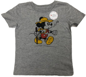 Walt Disney Mickey Mouse Hiking & Whistling Boys T-Shirt