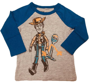 Woody & Forky Disney Toy Story 4 Long Sleeve Boys T-Shirt