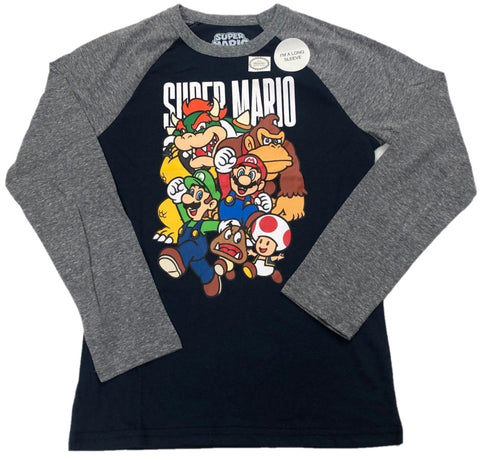 Super Mario Cast Photo Boys Long Sleeve T-Shirt