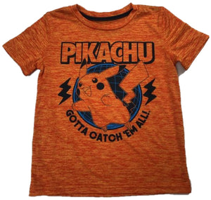 Pikachu Gotta Catch 'Em All Boys T-Shirt (Orange)