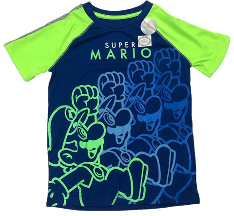 Super Mario Bros Outline Boys T-Shirt