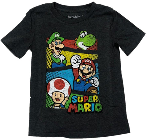 Super Mario Cast Luigi Toad Yoshi Boys T-Shirt