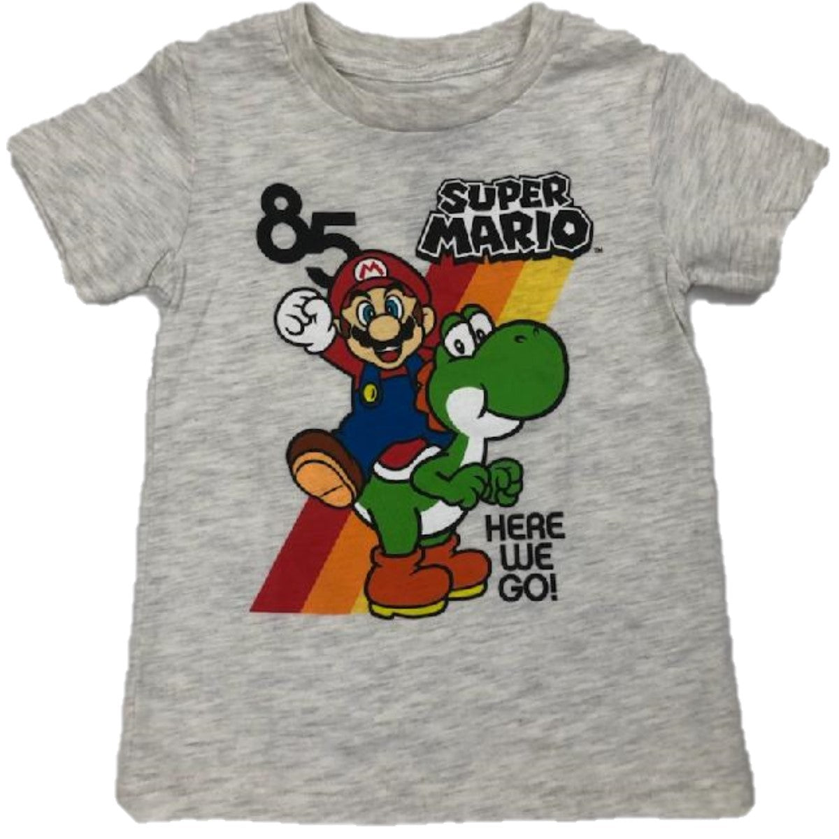 Super Mario 1985 Here We Go Mario & Yoshi Boys T-Shirt