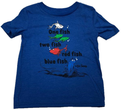One Fish Two Fish Red Fish Blue Fish Dr. Seuss Boys T-Shirt