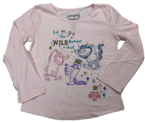 Let the Wild Rumpus  Where the Wild Things Are Girls Long Sleeve T-Shirt