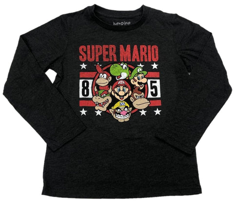 Super Mario Bros Cast Photo 1985 Boys Long Sleeve T-Shirt