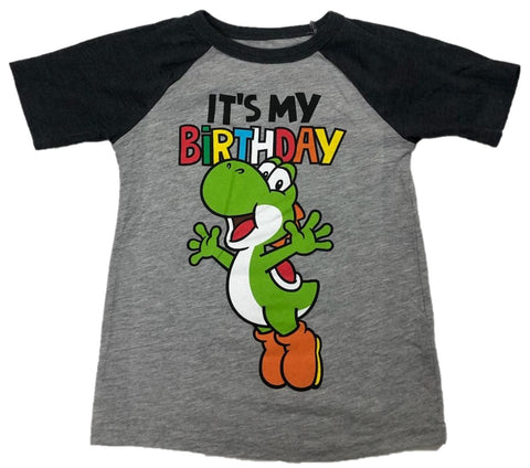 Yoshi It's My Birthday Boys Short Sleeve T-Shirt