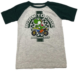 Yoshi Born to Ride Mario Kart Boys T-Shirt