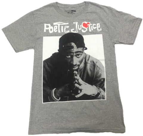 Poetic Justice Tupac Shakur 2Pac Red Heart Mens T-Shirt