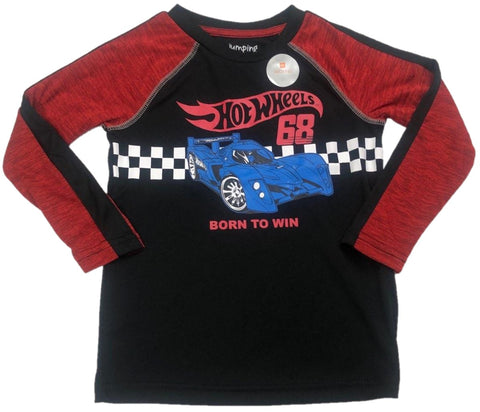 Hot Wheels 68 Born To Win Boys Long Sleeve T-Shirt