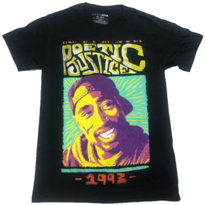Poetic Justice 1993 Distressed Tupac Shakur 2Pac Mens T-Shirt
