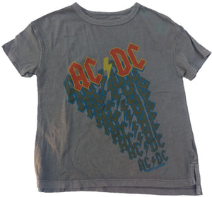ACDC AC-DC Rock Band Boys Gray T-Shirt