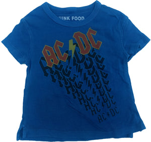 ACDC AC/DC Rock Band Blue Boys Toddler T-Shirt