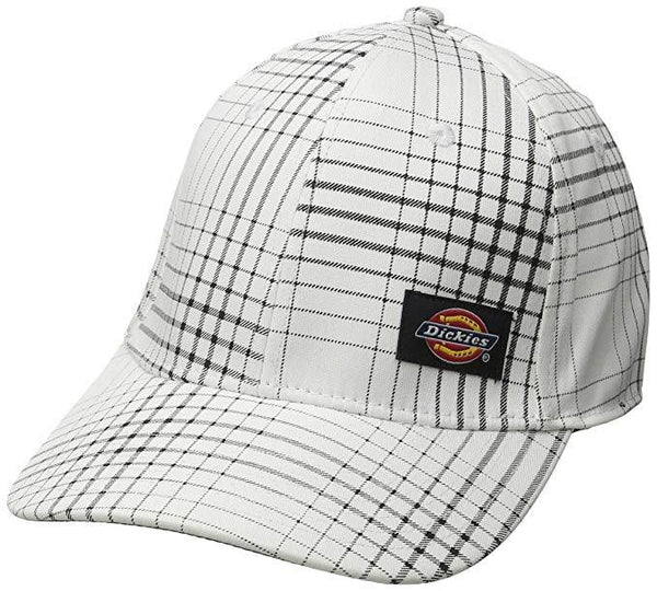 Dickies Men's Plaid Structured Flex Black/White One Size