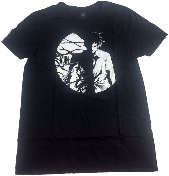 Ajin Demi-Human Anime Animation Japaneese Lootcrate Mens T-Shirt (Black)