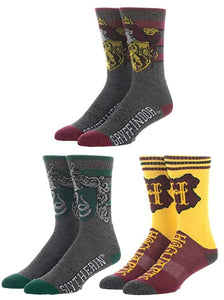 Bioworld Harry Potter Athletic Crew Socks (Pack of 3)