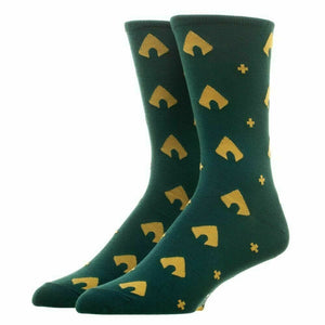Aquaman Mens Crew Cut Argyle Dress Socks