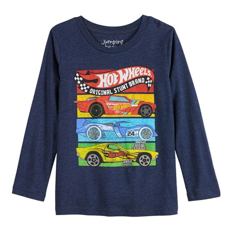 Hot Wheels Stunt Brand Long Sleeve Boys T-Shirt