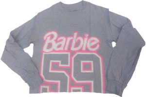 Barbie Original 1959 Mattel Crop Top Junions Womens T-Shirt