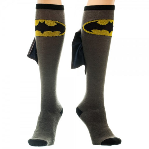 Batman Logo Womens Knee High Shiny Cape Socks