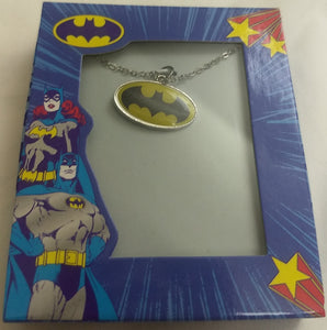 "Batman Logo Necklace 16"" Chain with 2"" Extension"