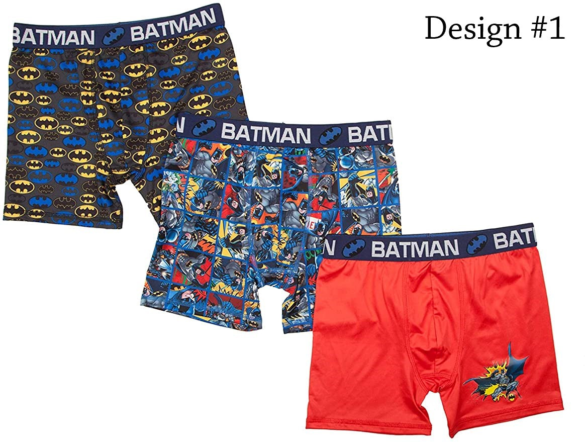 Batman Boxer Briefs Boys 3 Pack Action Underwear