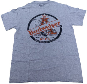 Budweiser Anheuser-Busch King of Bottled Beer Lager Mens T-Shirt
