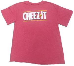 WOMEN'S JUNIORS CHEEZ-IT SNACKS CROP TOP T-SHIRT
