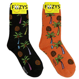 Coconuts & Palm Trees Foozys Womens Crew Socks