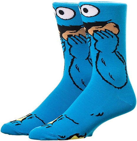 Cookie Monster 123 Sesame Street 360° Degree Character Crew Socks