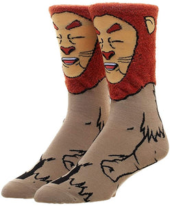 Cowardly Lion Wizard of Oz 360° Character Crew Socks