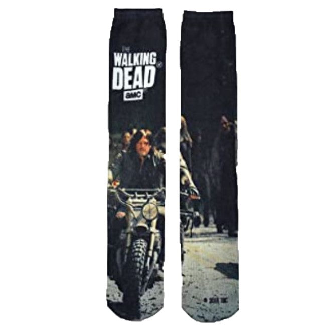 Daryl Dixon Riding a Motorcyle The Walking Dead AMC Socks
