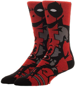 Deadpool Marvel Wade Wilson 360° Degree Character Crew Socks